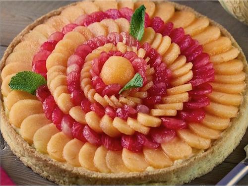 Tarte melon & pastèque