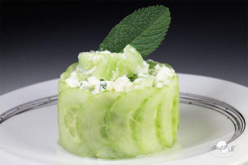 Salade de concombre au lait de coco